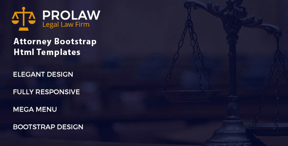 Prolaw Legal Law Firm - Attorney Bootstrap Html Templates - Corporate Site Templates TFx Jared Ashton
