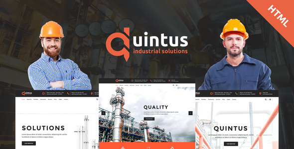 Quintus - Industry / Factory / Engineering HTML5 Template - Business Corporate TFx Lon Titus