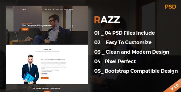RAZZ Portfolio PSD Template - Portfolio Creative TFx Earle Michi