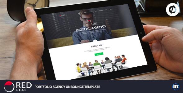 Red Leaf – Portfolio Unbounce Template - Unbounce Landing Pages Marketing TFx Ulric Xzavier