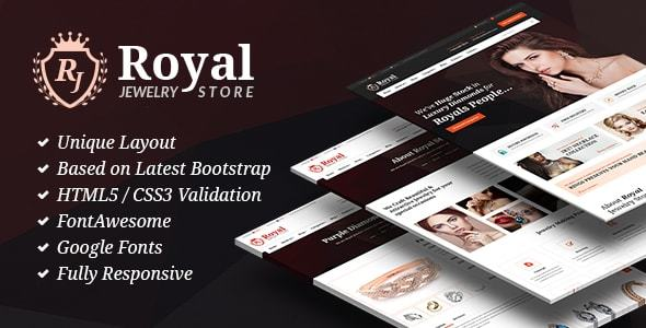 Royal Jewelry - Jeweler Shop & Store HTML Site Template - Shopping Retail TFx Evander Alban