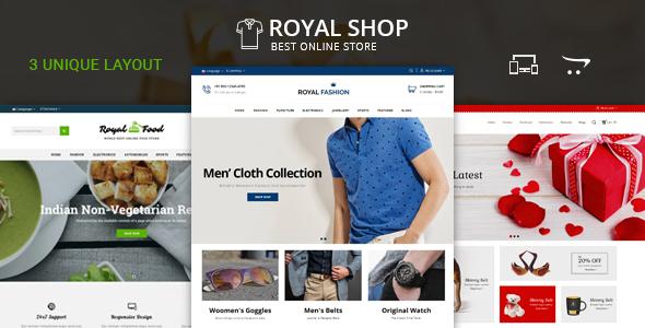 Royal Shop - OpenCart Responsive Theme - Shopping OpenCart TFx Erle Loren