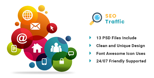 SEO TRAFFICE – Internet Marketing and SEO PSD Template – PSD Templates  TFx Kaito Dwayne