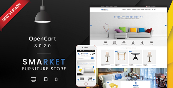 SMARKET 3.0.X Opencart Furniture Theme - OpenCart eCommerce TFx Hardy Wade