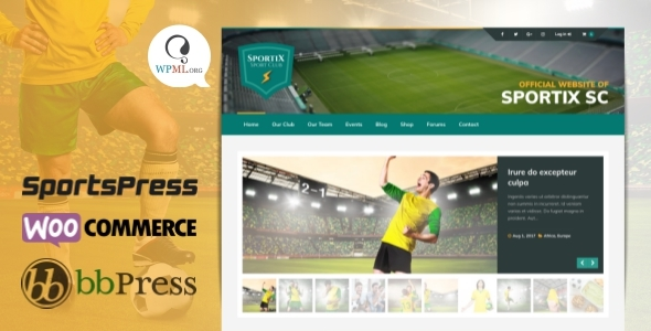 SPORTIX - WordPress SportsPress Theme for Sport Clubs - Nonprofit WordPress TFx Shane Grier