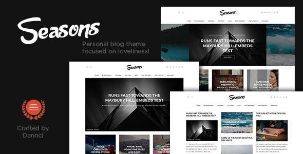 Seasons - A Multi-Concept Blog Theme - Personal Blog / Magazine TFx Reed Cassidy