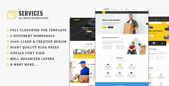 Services - Multipurpose PSD Template for Business Services - Business Corporate TFx Garrett Ty