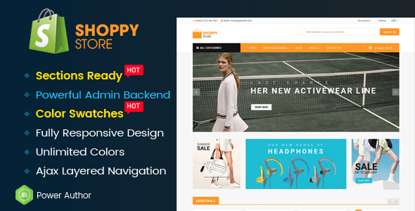 ShoppyStore - Multipurpose Responsive Sectioned | Drag & Drop Shopify Theme - Shopify eCommerce TFx Sacheverell Bennie