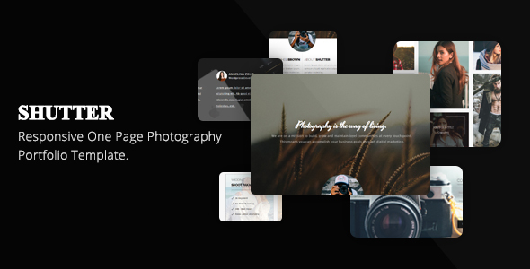 Shutter One Page Photography Portfolio Template – Photography Creative TFx Eldon Iman