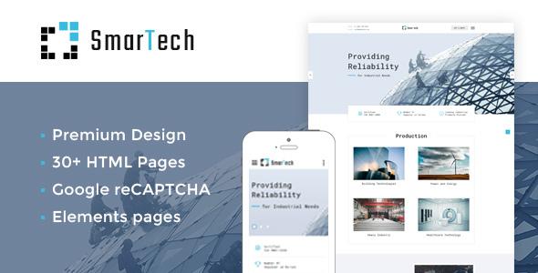 SmarTech — Bootstrap Multipage Construction Company Website Template - Corporate Site Templates TFx Daud Daniel