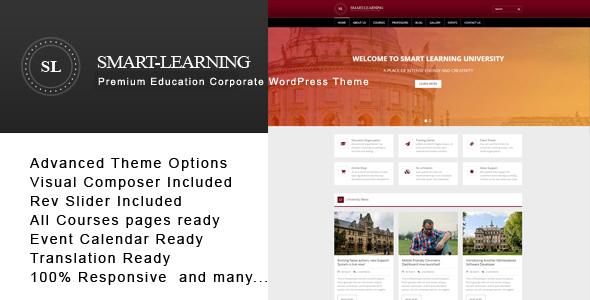 Smart Learning - Premium Education Corporate WordPress Theme - Education WordPress TFx Darin Stafford