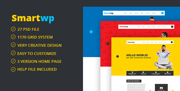 Smartwp - IT Firm digital studio Agency PSD Template - Creative PSD Templates TFx Zackary Douglas