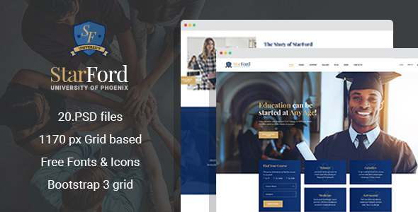 StarFord – University/Educational Establishment PSD Template – Corporate PSD Templates TFx Ronny Larrie