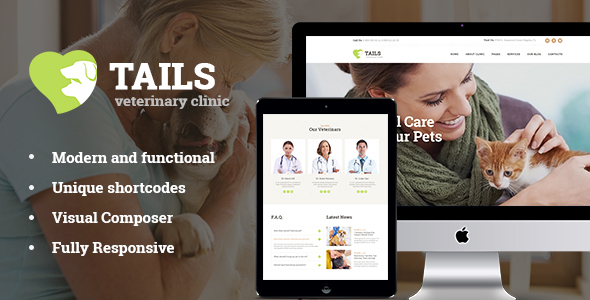 Tails | Veterinary Clinic, Pet Care & Shop - Retail WordPress TFx Goodwin Antiman