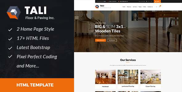 Tali : Floor and Paving Service HTML Template – Business Corporate TFx Ely Riley