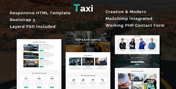 Taxi - Multipurpose Responsive HTML Template - Business Corporate TFx Thaddeus Galen