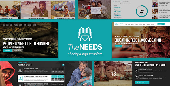 The Needs - Nonprofit, Charity, Crowdfunding HTML Site Template - Charity Nonprofit TFx Lindy Daley
