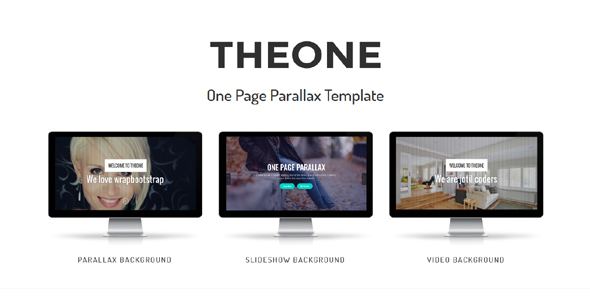 Theone - One Page Parallax Template - Technology Site Templates TFx Albert Hal