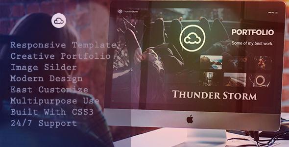 ThunderStorm - Creative HTML5 Template - Creative Site Templates TFx Major Travers