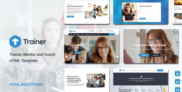 Trainer - Trainer, Mentor and Coach HTML Template - Business Corporate TFx Davit Collin