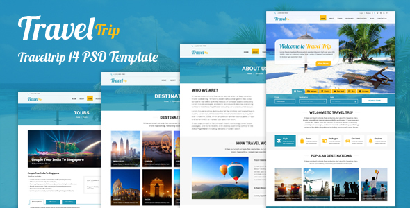 Travel Trip – Tour Package Booking PSD Template - Travel Retail TFx Blaine Mickey
