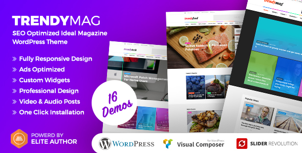 TrendyMag - WordPress News Magazine & Blog Theme - News / Editorial Blog / Magazine TFx London Rigby