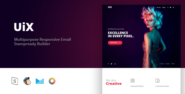 UiX - Responsive Email Template Minimal - Email Templates Marketing TFx Alf Delmar