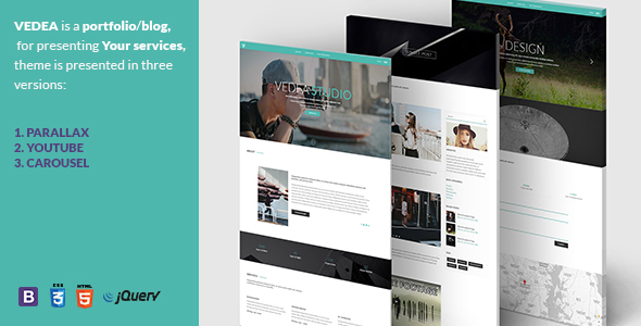 VEDEA - Responsive HTML Template For Portfolio/Blog - Personal Site Templates TFx Mel Carlyle