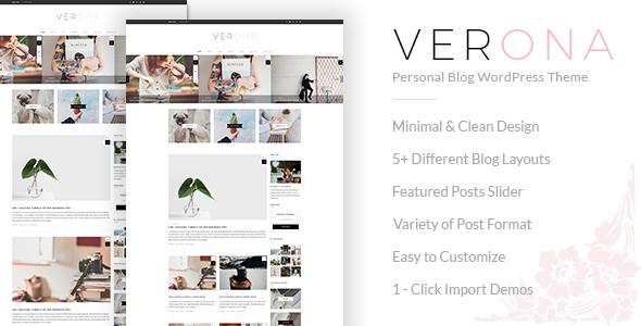 Verona - Responsive Personal Blog WordPress Theme - Personal Blog / Magazine TFx Zane Dene