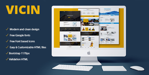 Vicin | Multipurpose Construction & Plumbing HTML Template - Corporate Site Templates TFx Drogo Lamont