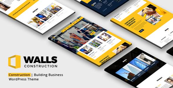 Walls WP - Construction WordPress Theme - Business Corporate TFx Layne Takehiko