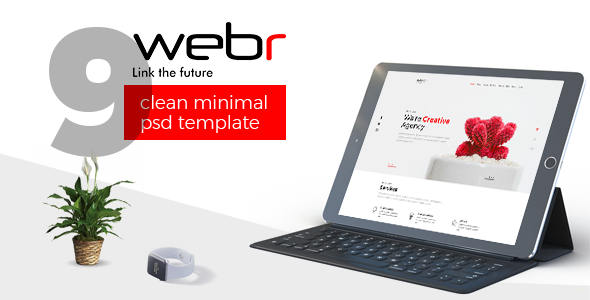 Webr - Clean minimal Creative Psd Template - Creative PSD Templates TFx Stew Kyou