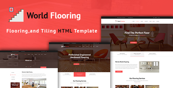 World Flooring - Flooring, Tiling & Paving Services HTML Template - Business Corporate TFx Garry Ethan