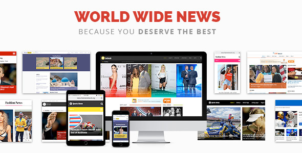 World Wide News - Magazine WordPress Theme - News / Editorial Blog / Magazine TFx Darnell Eko