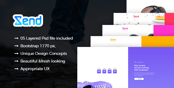 Xend – Coming Soon PSD Template – Business Corporate TFx Ives Neely