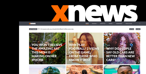 Xnews - WordPress Theme for Magazine / News / Blog - News / Editorial Blog / Magazine TFx Nobuyuki Avag