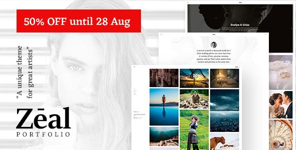 Zeal - Responsive and Creative Portfolio & Blogging WordPress Theme - Portfolio Creative TFx Merton Dederick