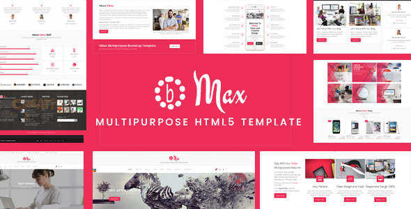 bMax Multipurpose HTML Template – Corporate Site Templates TFx Earl Terell