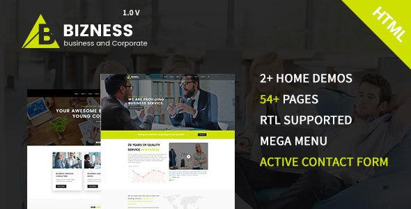 bizness - Business and Corporate HTML5 Template - Business Corporate TFx Neil Everitt