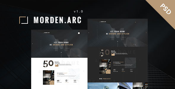 morden.arc - Architecture and Interior PSD Template - Business Corporate TFx Antony Antiman