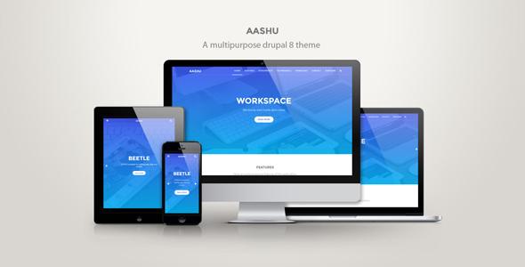 Aashu - A multipurpose drupal 8.x theme - Creative Drupal TFx Johnny Garrick
