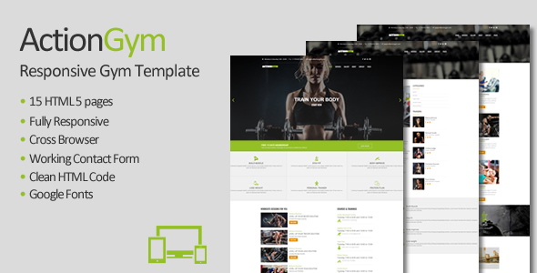 Action Gym - Responsive Gym & Fitness HTML Template - Health & Beauty Retail TFx Crofton Roy