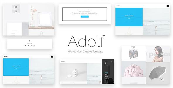 Adolf – Creative Premium Web Template – Portfolio Creative TFx Ripley Jay