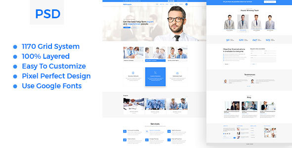 Advicepro - Business,Consultation,Agency PSD Template - Business Corporate TFx Ali Larry