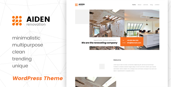 Aiden - Minimalistic Multipurpose WordPress Theme - Business Corporate TFx Budi Tod