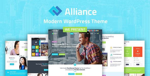 Alliance - Business And Marketing WordPress Theme - Business Corporate TFx Winslow Laird