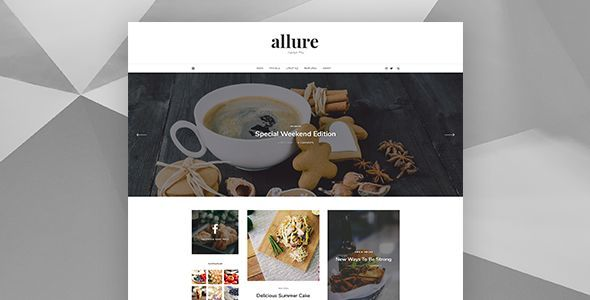 Allure - Personal Blog Template - Personal PSD Templates TFx Lynton Ewart