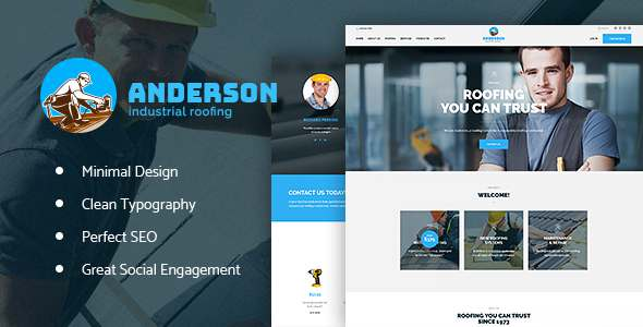 Anderson | Industrial Roofing Services - Business Corporate TFx Ryou Aleksandr