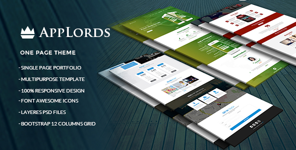 AppLords_One Page Multipurpose PSD Template - Technology PSD Templates TFx Tecumseh Woodie