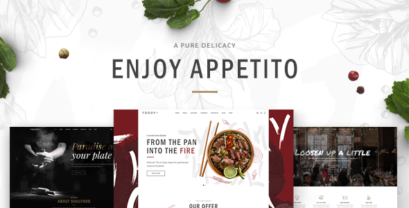 Appetito - A Beautiful Theme for Restaurants and Cafés - Restaurants & Cafes Entertainment TFx Monty Ty